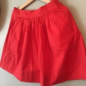 Red Banana Republic Skater Skirt with pockets SZ 4